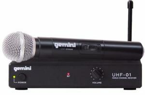 Gemini UHF-01M-F1 UHF Microphone Single Channel Wireless System with Handheld Microphone Canada Preview