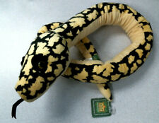 "54"" Plush Snake Stuffed Animal Toy Green Black Yellow Belly Wild Republic"
