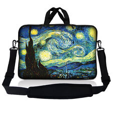 """17.3"""" 17.4 Laptop Sleeve Bag Case Pouch w Handle & Shoulder Strap Starry Night"""