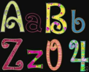 Sale machine embroidery applique swirly fun fonts brother bernina 62