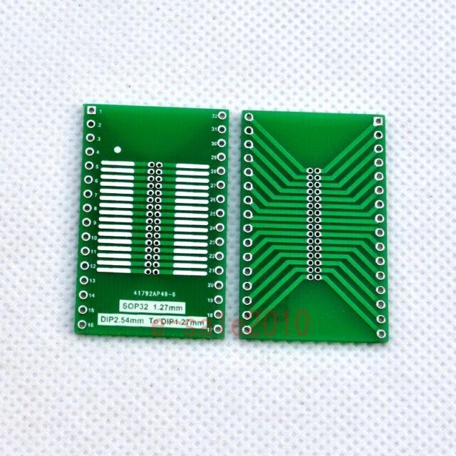 5PCS SOP32 to DIP32 1.27mm 2.54mm Adapter PCB Board Converter DIY