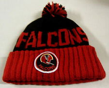 NWT NFL Atlanta Falcons Mitchell & Ness Throwback Pom Cuffed Knit Hat Beanie Cap