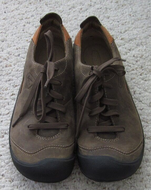 Keen Womens Brown Oiled Leather Oxfords Lace Up shoes 6.5   7
