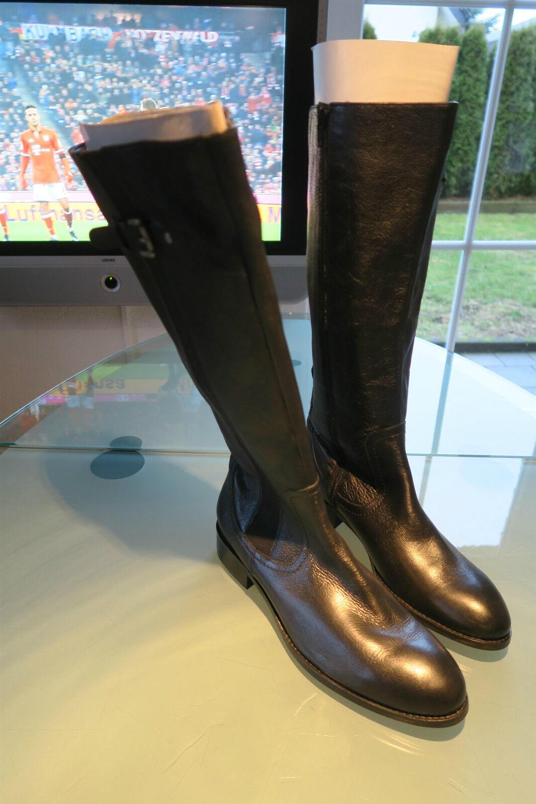 Van Dal Damen Lederstiefel - Größe 41 - OP - Stiefel Leder schwarz