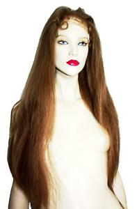 Remi-Remy-Indian-Human-Hair-Full-Lace-Wig-Long-11-Medium-Brown-Silky-Straight