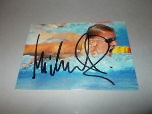 Michael Gross Autogrammkarte Original Signiert Schwimmen