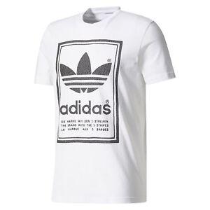 370ac8c9305a2 Das Bild wird geladen Adidas-Original-HERREN-Japan-Archive-T-Shirt-Weiss-