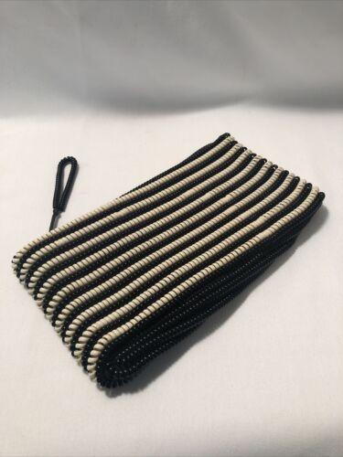 Vintage Black And White Telephone Cord Handbag Clu