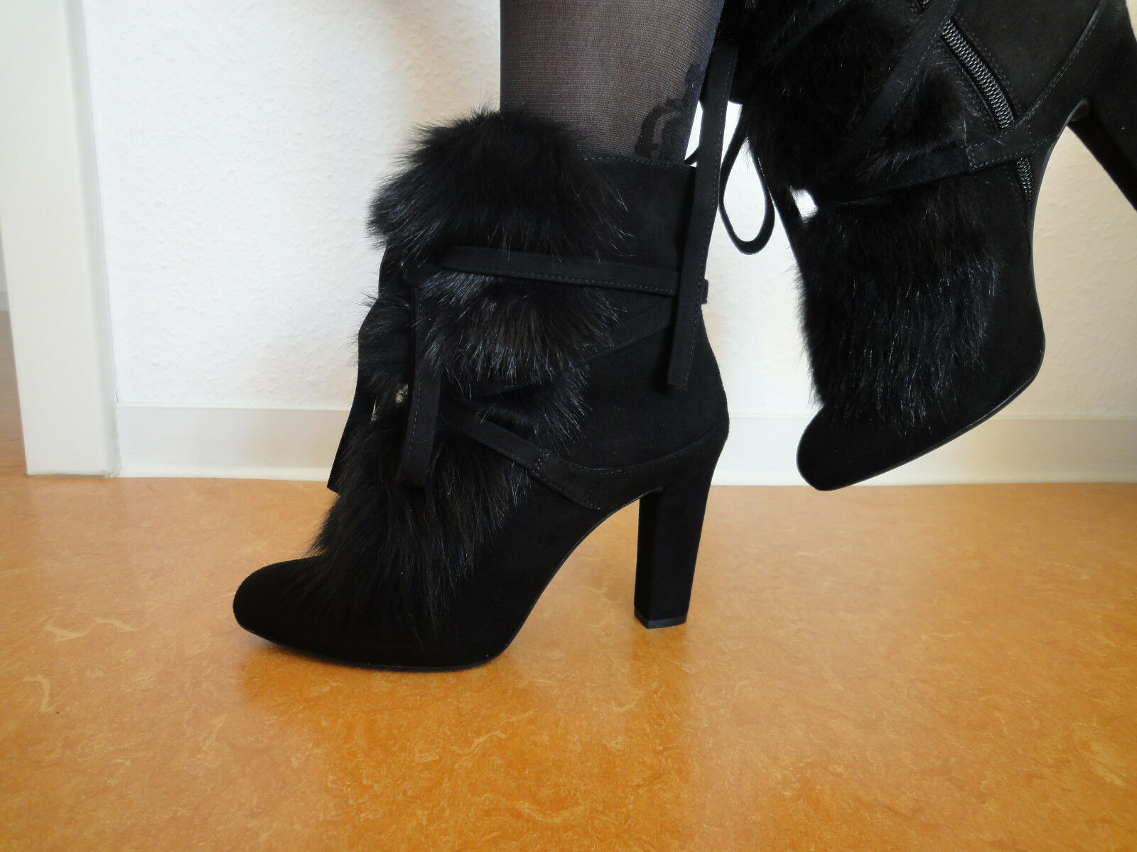 UNISA Damen Stiefel  Pomati_KS   Gr. 39 39 39 Stiefeletten Echtleder schwarz neu 6a54a8