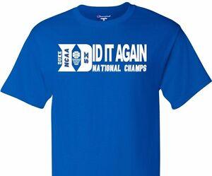 107a50cd7478 2015 Duke Blue Devils 5X NCAA Basketball National Championship Men ...