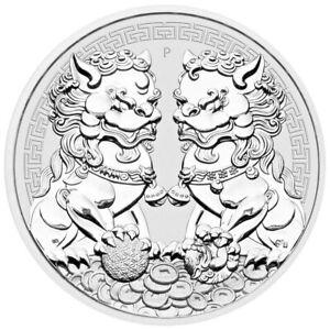 Australia 2020 Double PIXIU 1 Oz  Perth Mint Silver Coin in Capsule