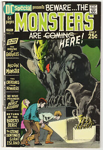 DC Special #11 Beware the Monsters Are Here! Neal Adams Cover! VF 1971 Horror