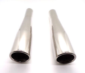 Pair-Best-Quality-VW-Classic-Beetle-Stainless-Steel-Exhaust-Taper-Tip-Tail-Pipe