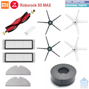 For Xiaomi Roborock S6//S5 Max S60//S65 Parts SIDE BRUSH FILTER MOP Kit New