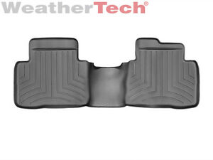 weathertech floor mats floorliner for nissan rogue 2014 2017 2nd row black ebay. Black Bedroom Furniture Sets. Home Design Ideas