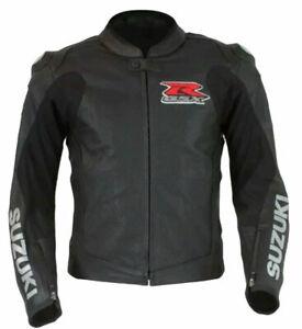 Suzuki-GSXR-Motorcycle-Leather-Jacket-Sports-Motorbike-Leather-Jackets-Black