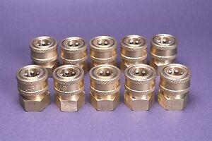 10 Landa Karcher Brass 3/8 Coupler Pressure Washer Quick Connect Female 4000 PSI