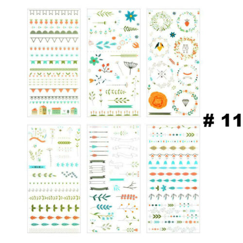 Irregular Shape Stationary Diary Label Phone Decor Cartoon Stickers PVC Sticker