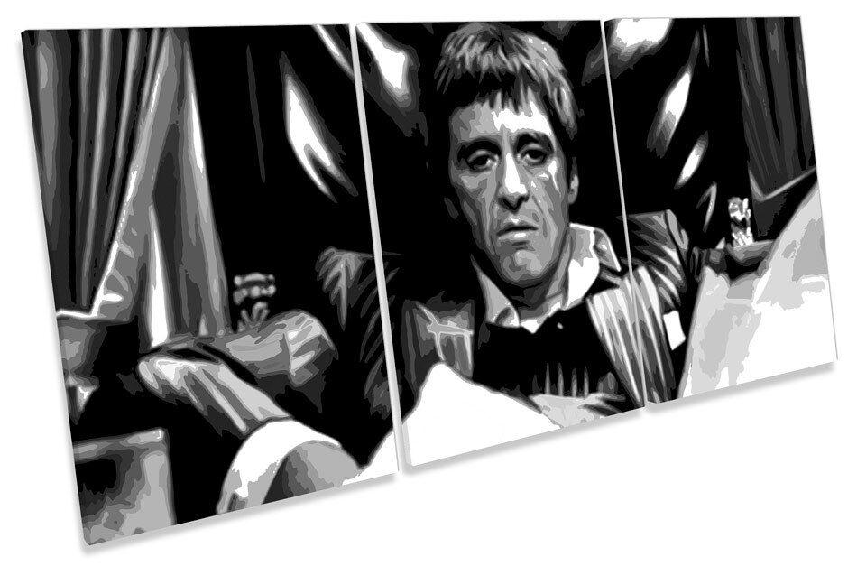 Scarface Tony Montana  TREBLE CANVAS WALL ART Picture Print