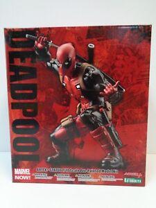 Kotobukiya - Statue de Deadpool Artfx à l'échelle 1/10, kit de modèles pré-peint Marvel