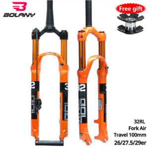 BOLANY-Bike-Fork-Air-Suspension-Fork-Disc-brake-26-27-5-29er-Inch-32-HL-RL100mm