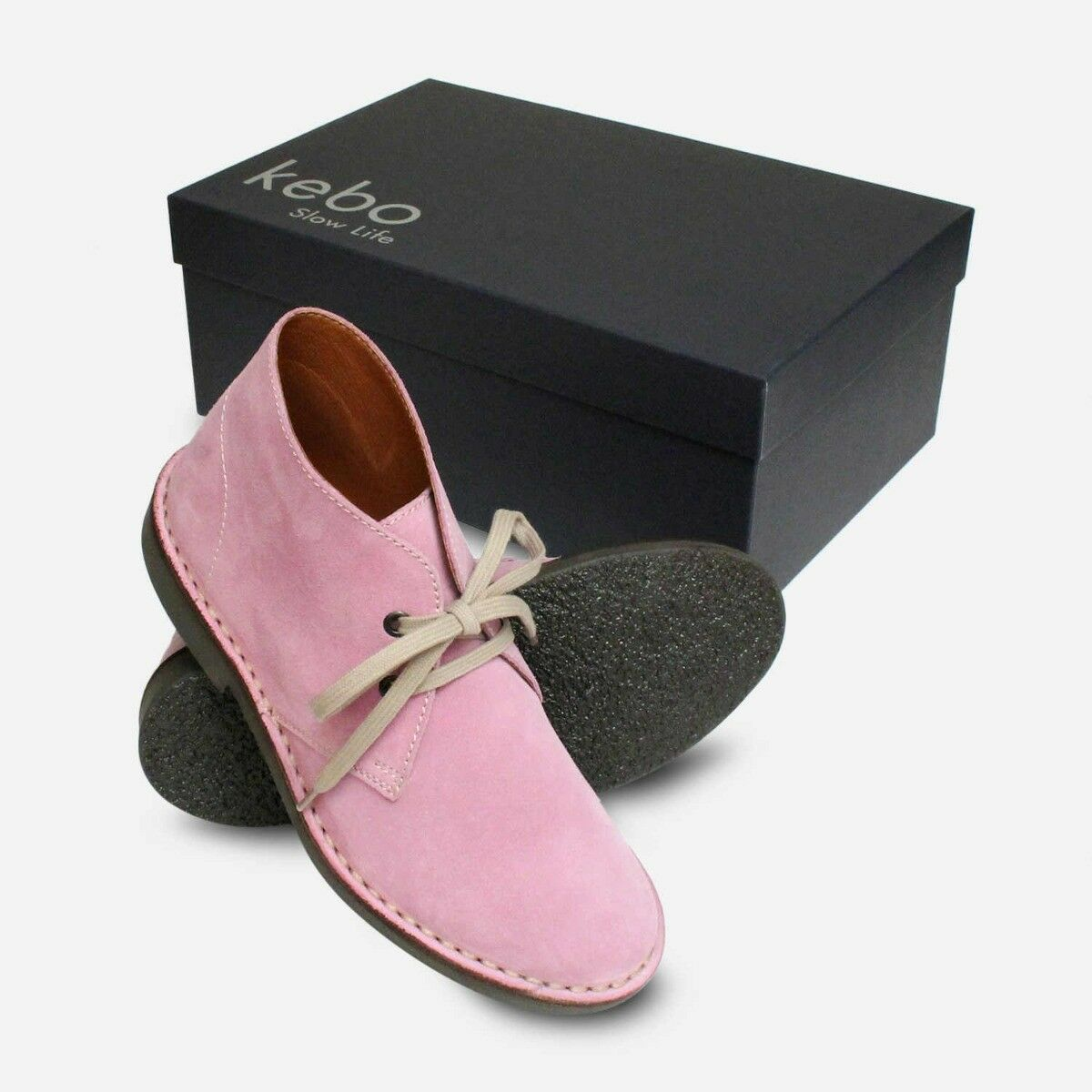 púrpura Gamuza Señoras botas Con Cordones Cordones Cordones Desierto italiano 28f528