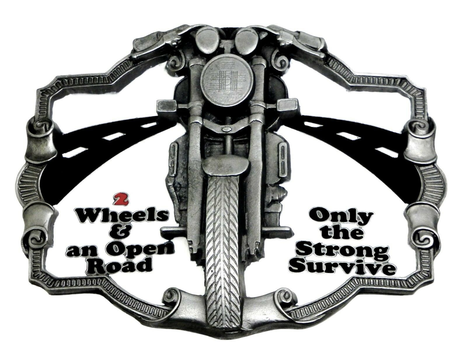 Biker Belt Buckle Motorcycle 2 Wheels & Open Road Bike Authentic Dragon Designs