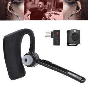 Walkie Talkie Bluetooth Headset Earpiece Ptt Remote For Motorola 2 Way Radio Ebay
