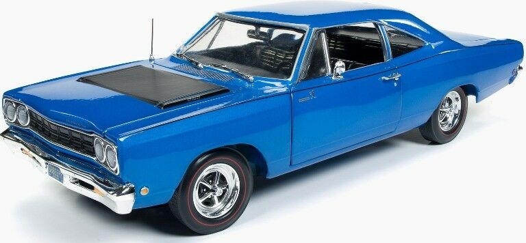 1968 Plymouth Road Runner bleu 1 18 1125