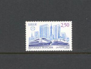 France-1993-SG-3140-TGV-Eurostar-Railway-MNH