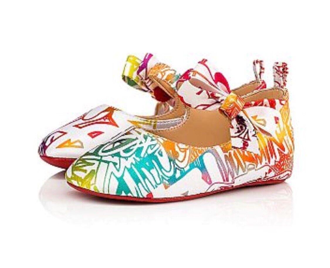 basso prezzo del 40% Limited Edition Christian LouboutinWallgraf Multicolore Multicolore Multicolore Baby scarpe NIB SOLD OUT  migliore vendita