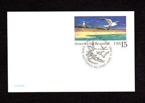Details About Scott Ux 132 America The Beautiful Fdc U S Postal Stationery Mint Card