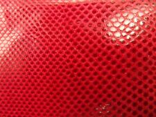 Genuine Red Karung Snake Skin Leather Hide Python Costume Crafts Boy Scouts