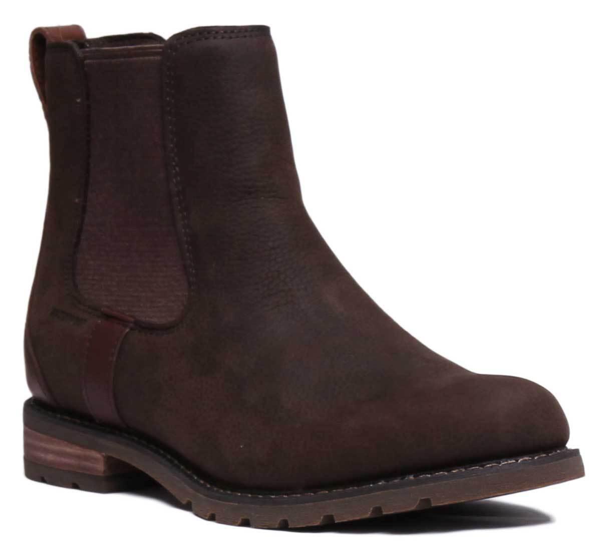 Ariat Wexford H2O damen Leather Khaki Ankle Stiefel UK Größe 3 - 8