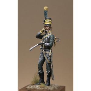 Atelier Maket Napoleonic 6th Chasseurs Officer 75mm Model Unpainted Metal Kit