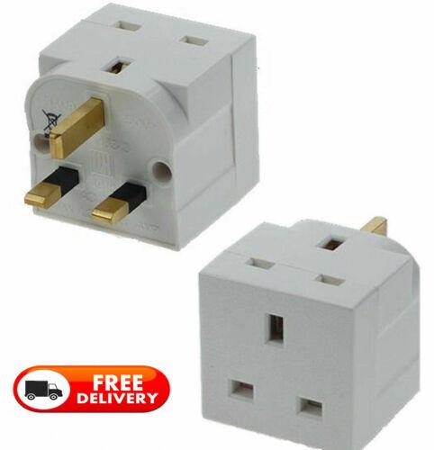 2 way Adaptateur 3 Broches Socket 13 Amp Double Socket ménage Multi Plug Adaptateur UK