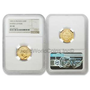 France-1831-A-Raised-Letters-20-Francs-Gold-NGC-XF40