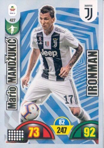 CARD ADRENALYN CALCIATORI PANINI 2018//19*JUVENTUS-IRONMAN-MANDZUKIC N.427*