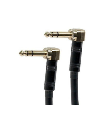 "8/"" inch Premium Stereo 6.3mm 1//4/"" TRS Male to M Right Angle Audio Cable Gold"