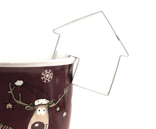 4-6cm Plätzchen Kekse 3er Set Tassenkekse Ausstechformen Glocke Haus Engel ca