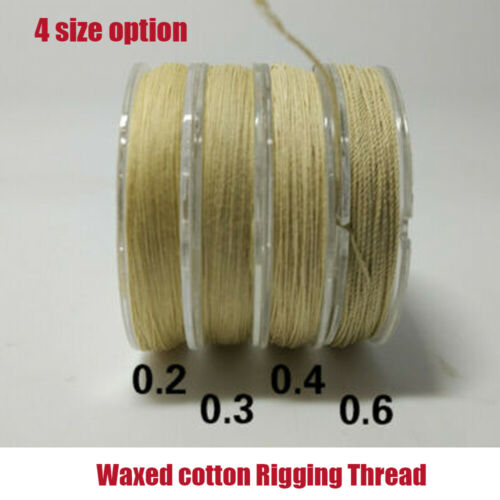 1PC Waxed cotton Rigging Thread Size Model Boat Fittings 0.2mm//0.3mm//0.4mm//0.6mm