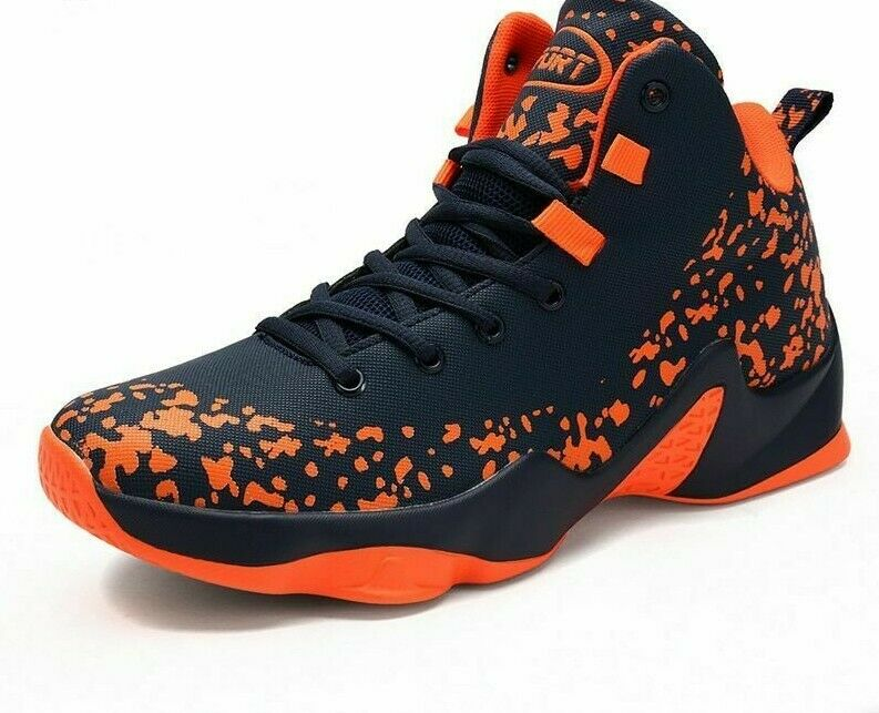 Men Basketball shoes High Lace Up Sneakers Big Size Stability Trainers Footwear