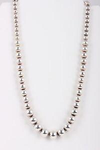 100% Vrai Sterling Silver Perles 51.3 G Collier 925 Fine 4501-afficher Le Titre D'origine Pour Classer En Premier Parmi Les Produits Similaires