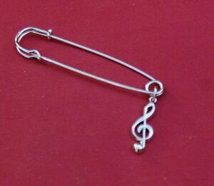 Treble-Clef-Music-Silver-Pin-Badge-New
