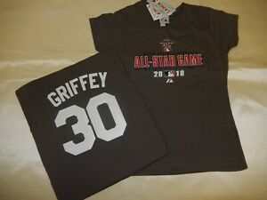 new style caeb4 886ff Details about 9601 Girls 2010 Cincinnati Reds KEN GRIFFEY JR All-Star  Jersey Shirt NEW