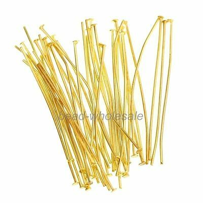 100pcs Silver Golden Head/Eye/Ball Pins Finding 21 Gauge For Jewelry Accessories