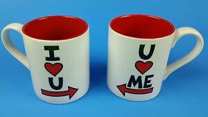 i love u u love me coffee mug set ebay