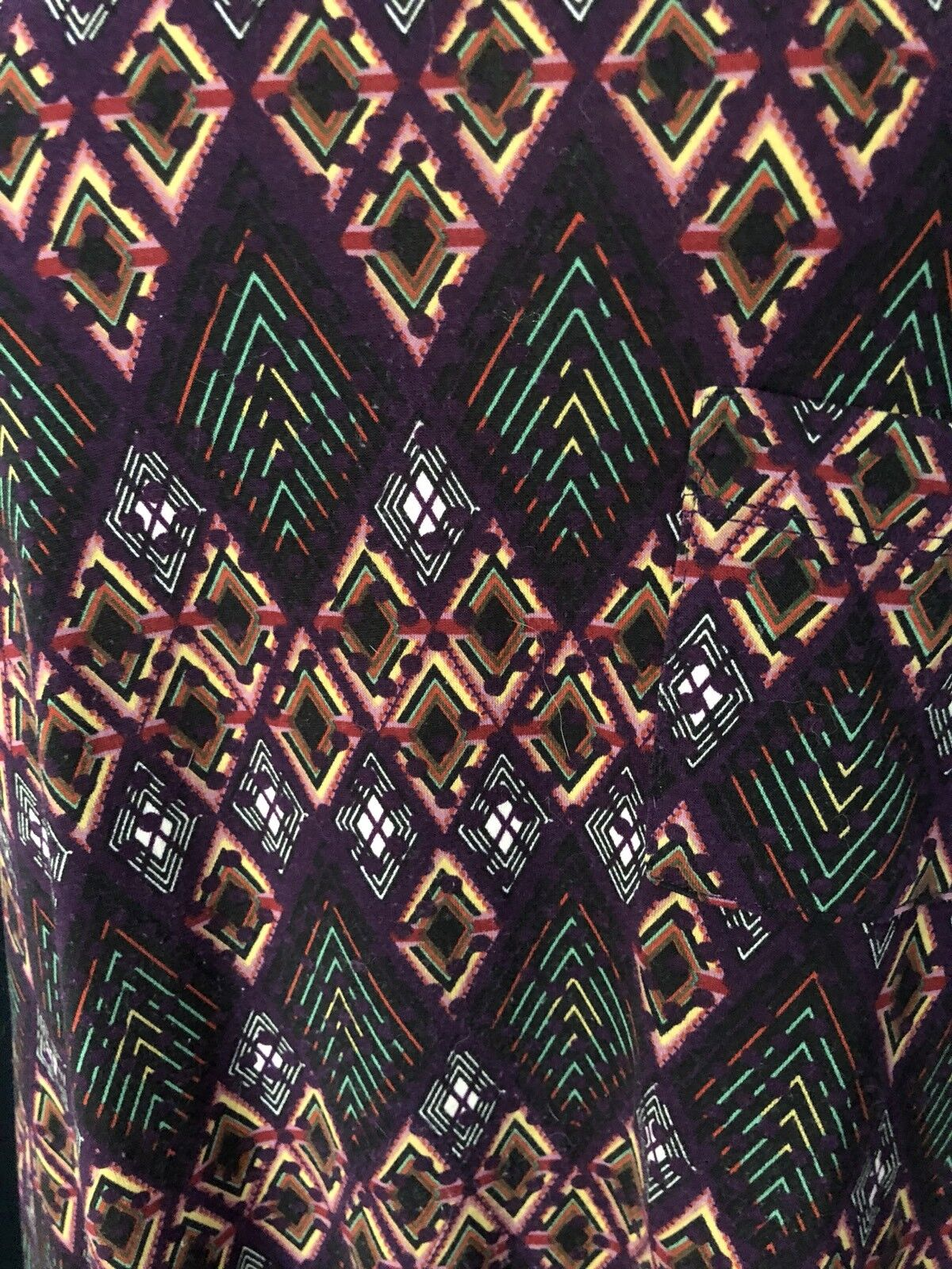 LulaRoe Carly Dress, Purple Purple Purple Multi-colord w Diamonds, Medium NWT 8351a0