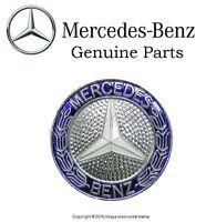 Mercedes W124 W201 Grill Badge Emblem Genuine Insignia Star Laurel Logo on Sale