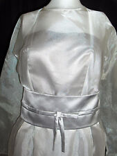 FANCY NY BRIDAL VTG INSPIRED WEDDING GOWN DRESS 10 SILVER SHORT PEARLS $1,500